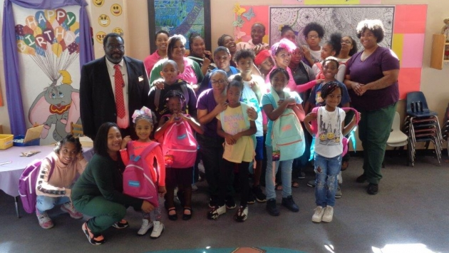 Bedford Hills CF give backpacks to children of women incarcerated